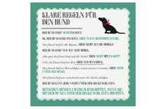 """Illustrationen - Bild """"Klare Regeln für den Hund"""" - ein Designerstück von Miss_Susi bei DaWanda"""