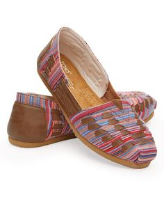 Loving this Brown Woven Huarache Classics on #zulily! #zulilyfinds
