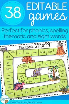 Editable games are perfect for differentiating your sight words, spelling and phonics.