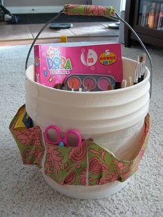 Art Bucket Tutorial...for J so she doesn't demolish the craft room.