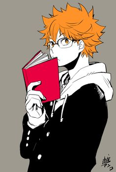 Haikyuu Hinata in glasses <3---> I...may or may not...have a...glasses kink...