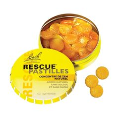 Rescue Pastilles orange - Concentré de zen naturel de Fleurs de Bach, 50g