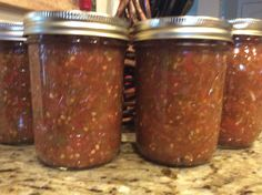 Perfect Pints of Tomato & Green Chili Salsa