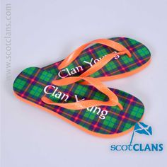 Young Tartan Flip Flops Free Worldwide Shipping Available