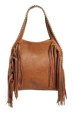 Big Buddha Fringe Faux Leather Hobo available at #Nordstrom