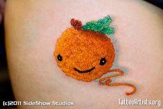 Crochet Orange Tattoo    Now this makes me smile!