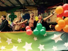 Gay Pride march in Glasgow.