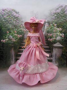 "Robe Barbie "" BB "" tenue pour poupéeBarbie fashion royalty silkstone muse f3788"
