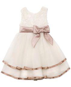 Rare Editions Little Girls' Soutache Mesh Dress