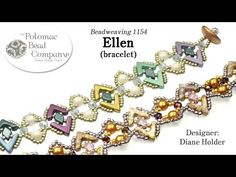 Ellen Bracelet YouTube free jewelry-making tutorial, with all supplies from Potomac Bead Company (www.potomacbeads.com