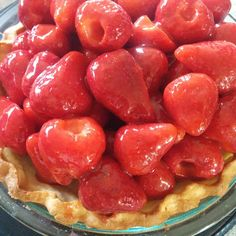 Fresh strawberry pie- recipe from Cook's Illustrated.