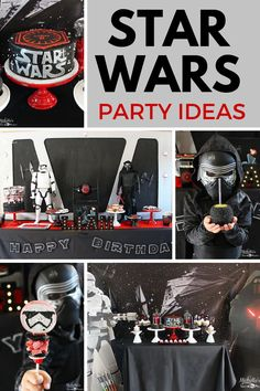 Star Wars Party Idea for the biggest Star Wars fan. Ideas include Star Wars party decorations, Star Wars Desserts and more! Party by Michelle's Party Plan-It