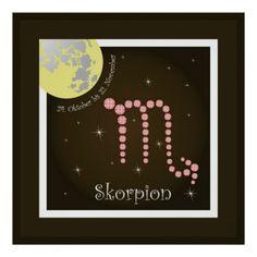 Skorpion 24. Oktober bis 22. November Poster