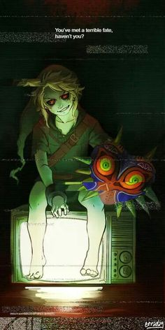 BEN Drowned! Hey! That was a reference from legend of Zelda majora's mask it was the happy mask salesmen who said that( I'm not a Zelda fan I'm a game theory fan and they talked about it$