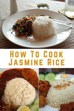 How To Cook Jasmine Rice In a Rice Cooker? Originally from Thailand, Jasmine is not commonly used in South East Asia. It's a long grain rice and has a floral aroma and a soft slightly sticky texture. Aroma Rice Cooker, Rice Cooker Steamer, Rice Cooker Recipes, Jasmine Rice Recipes, Cooking Jasmine Rice, Jasmine Rice In Rice Cooker Recipe, Zojirushi Rice Cooker, Rice Maker, Asian Recipes