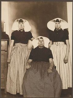 [Three Dutch women.]  I had to repost this one since I am half Dutch.