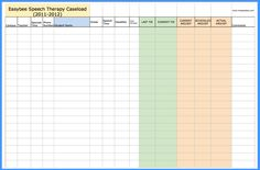 Easybee Speech Therapy Caseload-Pinned by SOS Inc. Resources @sostherapy http://pinterest.com/sostherapy.
