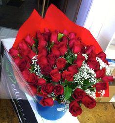 Ramo de 60 rosas rojas #regalaflores