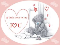 Tatty teddy - a little note to say