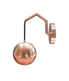 Dounia Home Amur Wall Sconce - Copper – Made Trade Heritage Crafts, Wall Lights, Ceiling Lights, Eco Friendly House, Nickel Silver, Old World Charm, Interior Design Studio, Light Fittings, Beautiful Lights