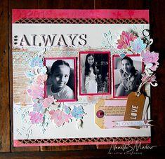 Scrapbook Page Layouts, Scrapbook Pages, Scrapbooking, Altenew Cards, Watercolor Pattern, Friend Birthday, Hello Everyone, Mom And Dad, Attic