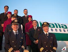 The best crew ever!  #Alitalia #a321 #airbus #crew #flightattendant #airport #fiumicino
