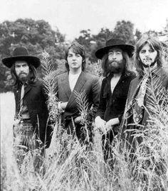 The Beatles final photo shoot in 1969 at John Lennon's estate, Tittenhurst.
