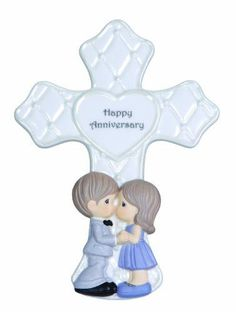 Happy Anniversary Cross with Easel Stand