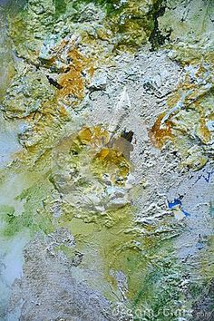 Golden painting background with silvered impasto, background.
