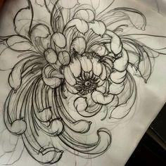 Quick chrysanthemum! #tattoo #tattoos #tattooworkers #tattoosnob…