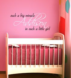 Personalized Miracle Girl large vinyl wall by OffTheWallExpression, $35.00