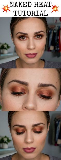 Houston beauty blogger Uptown with Elly Brown shares a fun and easy tutorial using the Naked Heat Palette in under 5 minutes. Click here for more!