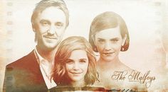 The Malfoys by Katerinan on deviantART (Dramione) --- I cannot pass this great manip up!