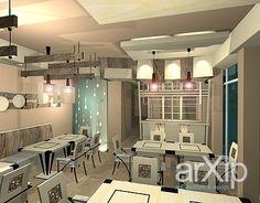 "Интерьер ресторана ""Чагин"".: интерьер, современный, модернизм, ресторан, кафе, бар, 50 - 80 м2, зал #interiordesign #modern #restaurant #cafeandbar #50_80m2 #hall arXip.com"