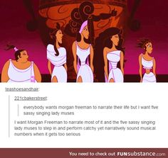 The muses from Hercules. Which is probably my favorite Disney movie ever. Tied with Aristocats of course>>> lol same Disney Pixar, Film Disney, Disney And Dreamworks, Disney Animation, Tumblr Funny, Funny Memes, Hilarious, Jokes, Memes Humor