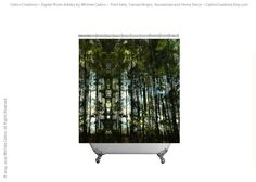 Shower Curtain Tall Pine Trees Abstract Nature by CatinoCreations  -- Beautiful products like this can be custom made for you by our members at http://DigiColorCreations.com.