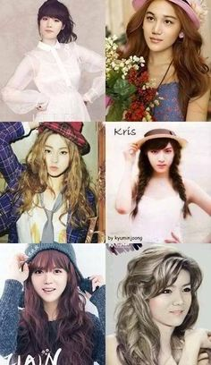 EXO girls......Oh my gooood xiumin is a beautiful girl, oh my god I'm shocking of how pretty they are as a girls