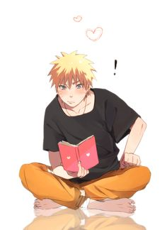 Is Naruto reading a ROMANCE NOVEL?!