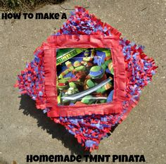 How to make a Homemade Teenage Mutant Ninja Turtle Pinata #tmnt