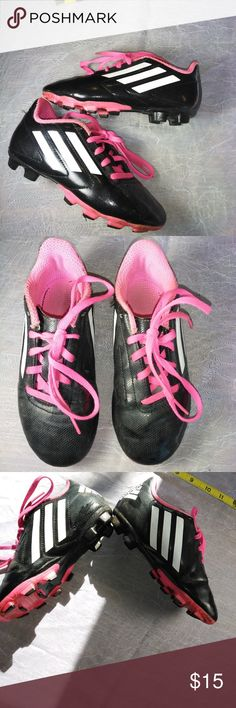Adidas Kid's Cleats, Like New, Girl's Size 1 Adidas Cleats Sneakers, Like New, Girl's Size 1 From a smoke-free closet. Nice! adidas Shoes Sneakers