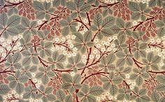 Victorian Floral Wallpapers | Bradbury Raspberry Bramble Wallpaper