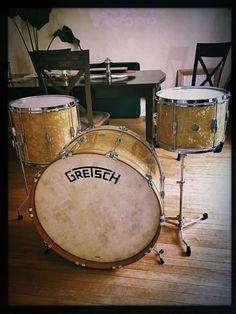 The dream... Gretsch Broadkaster Antique Pearl Custom Kit   Reverb