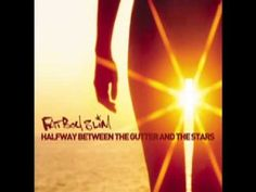 """Fatboy Slim :: Halfway Between The Gutter And The Stars. The title alludes to a line in Oscar Wilde's play, Lady Windermere's Fan """"We are all in the gutter, but some of us are looking at the stars. Vinyl Cover, Cd Cover, Album Covers, Cover Art, I Love Music, Kinds Of Music, Free Radio, Pochette Album, Parental Guidance"""