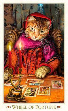 Wheel of Fortune - Bohemian Cat Tarot