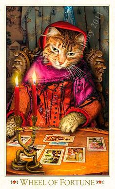The Wheel of Fortune The Baroque Bohemian Cats' Tarot