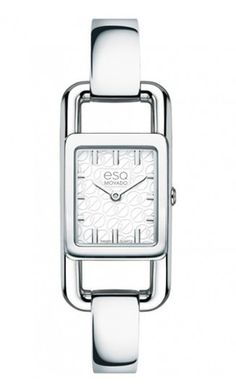 "ESQ by Movado ""Angle"" ladies watch. Stainless Steel Quartz Movement. At DarcysFineJewelers.com $295"
