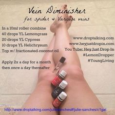 Young Living Essential Oils: Legs Varicose Veins by nyakadoodledoo