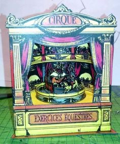 PAPERMAU: The Circus Automata Carousel Vintage Paper Model - by Unknown via Paper Modelers