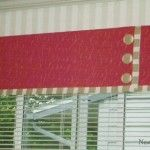 Valance With Banding and Buttons