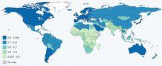 Carte de l'indice de développement humain 2013 (IDH)